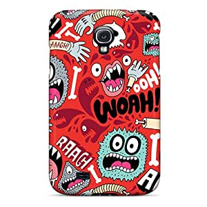 Tpu Case Cover Compatible For Galaxy S4/ Hot Case/ Monster Pattern