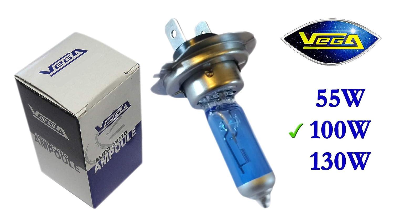 1 ampoule Vega® Xénon 'Day Light' H7 100W PX26d Lumière du jour Super White Marque Française 12V