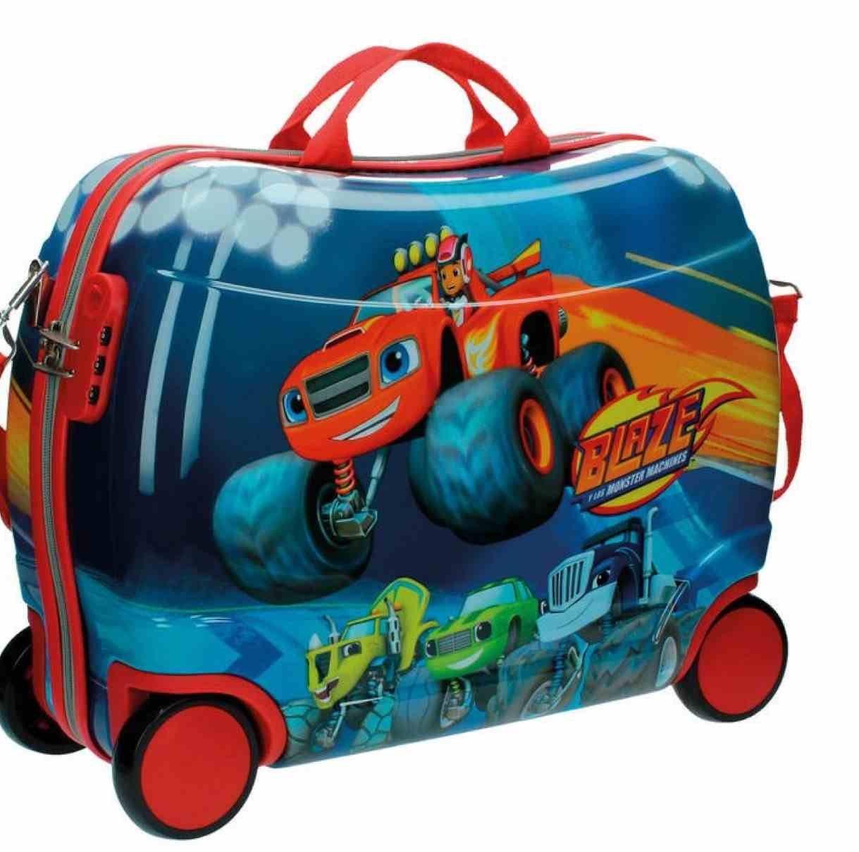 Blaze Sitzkoffer Maschinen Kindergepäck, 38 Liter, Rot