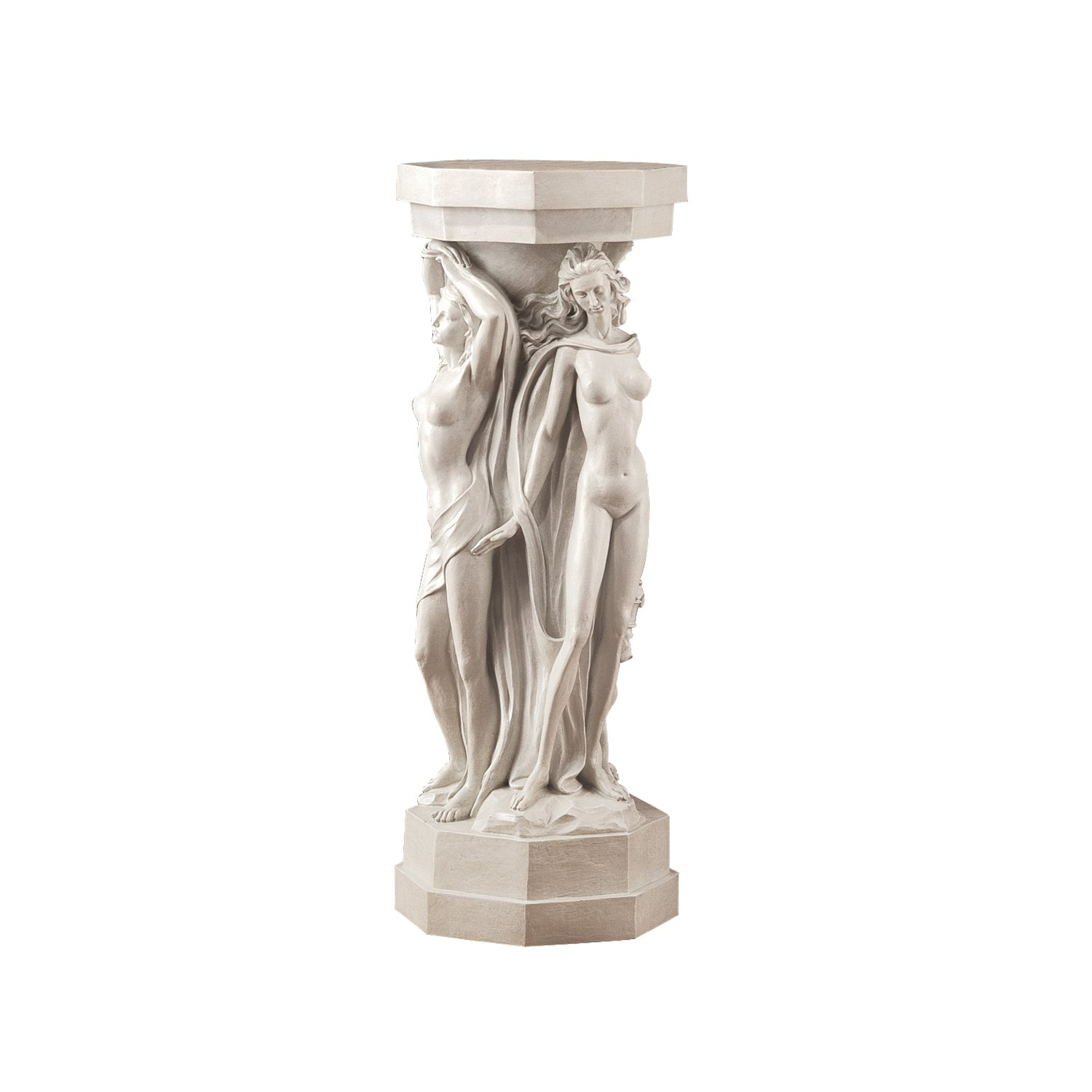 Design Toscano Column of the Maenads Pedestal Sculpture by Design Toscano