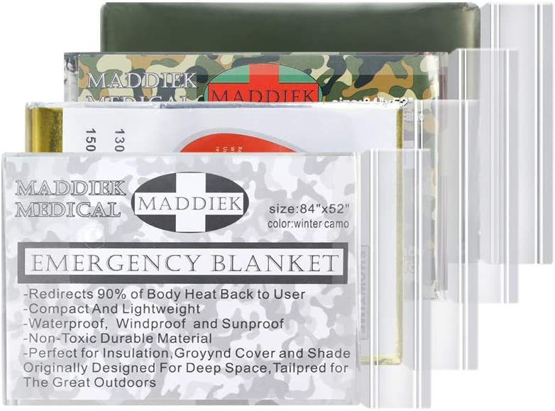 Emergency Blankets Extra Large Thermal Mylar Foil Space Blanket Heat Sheets for Hiking, Marathon Running, First Aid Kits, Prepper, Bug Out & Outdoor Survival Gear