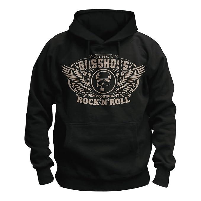 The Boss Hoss - Dont Control My Rock N Roll - con capucha/sudadera con capucha Negro negro: Amazon.es: Ropa y accesorios