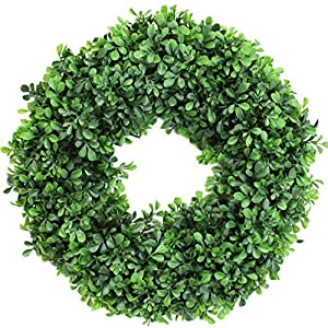 Boxwood Wreath Artificial for Front Door or Home Decor ... 112