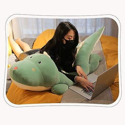 Almohada de Juguete Animal Relleno de Almohada de Felpa de Dinosaurio Lindo Super Suave,80cm: Hogar