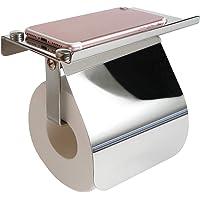 Meowtutu Toiletpapierhouder - wc-papierhouder met plank SUS304 roestvrij staal rolhouder voor keuken en badkamer…