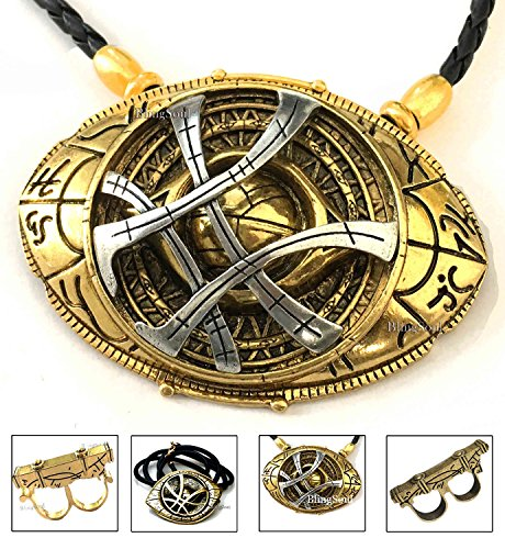BlingSoul New Doctor Strange Costume Cosplay Jewelry - Eye of Agamotto Necklace (Large)