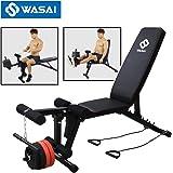 WASAI(ワサイ) マルチベンチ インクラインベンチ トレーニングベンチ フラットベンチ ダンベルベンチ mk035