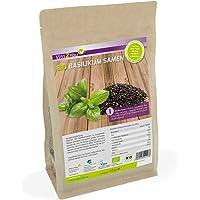 BIO Basilikum Samen - im Zippbeutel - Basilikumsamen ganz - aus Ökologischen Anbau - DE-ÖKO-006 - verwendung wie Chia Samen - Premium Qualität (500g)