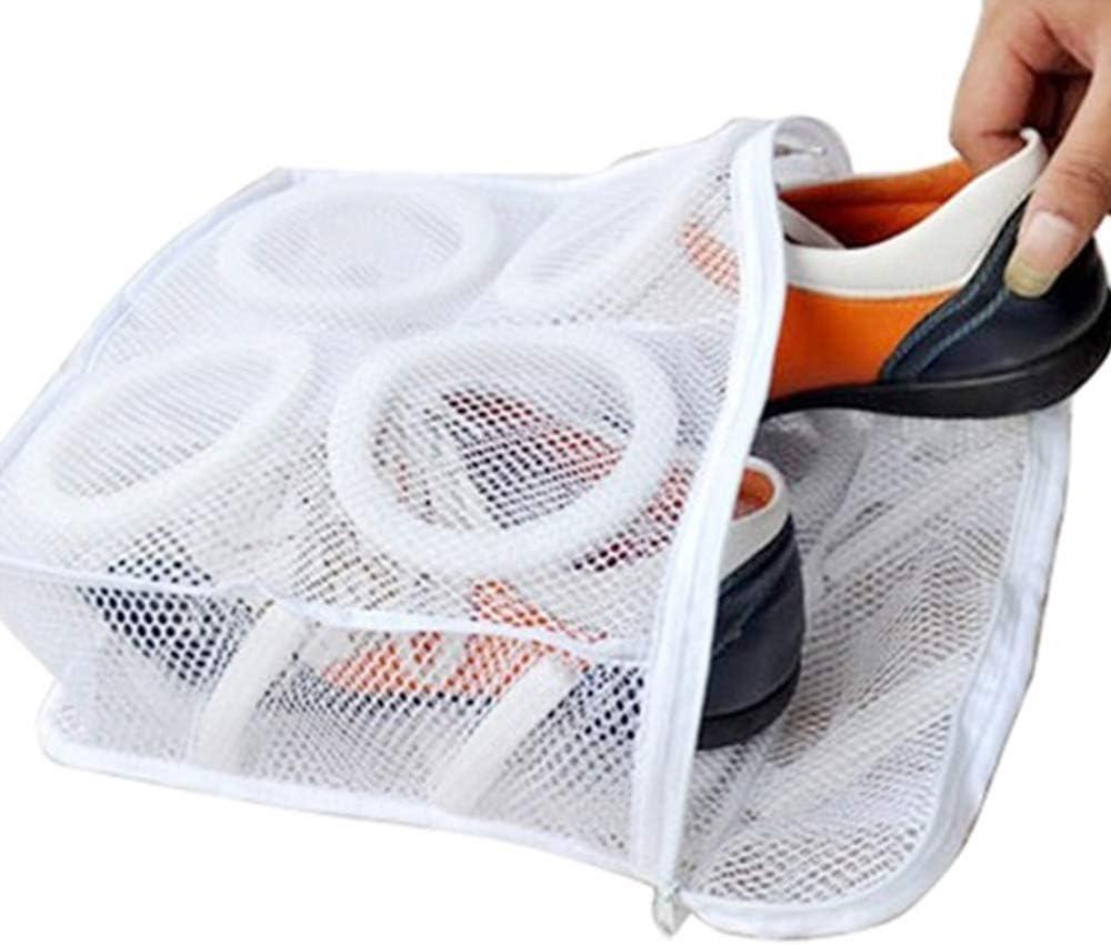 sujetadores calcetines bolsas de lavado cuadradas con cremallera duradera para lavar zapatos Akwind Bolsa de malla para zapatos de lavander/ía para zapatos bolsa de lavado multifunci/ón para tenis