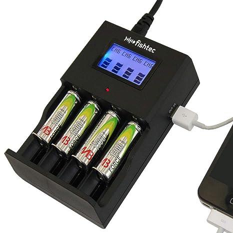 Cargador de pilas AA / AAA / C NiCd / NiMH / Li-on ALCALINA desechable + Teléfono - USB