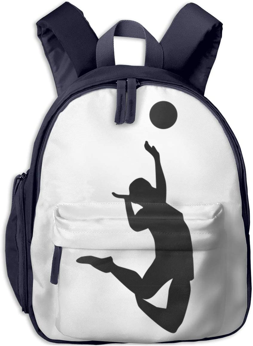 Amazon Com School Backpack For Student Cute Volleyball Man Player Cartoon Backpacks Book Bag Home Kitchen