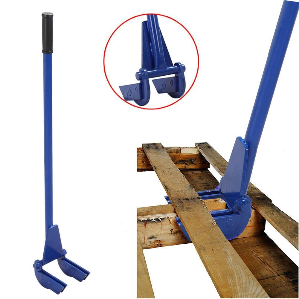 go2buy Iron Pallet Buster Pallet Breaker with 44'' Handle, Blue