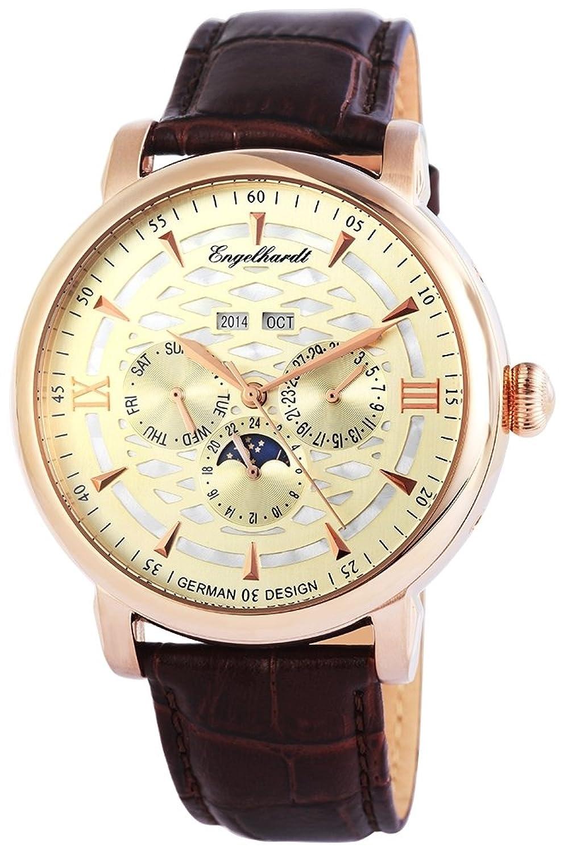 Engelhardt Herren-Armbanduhr XL Analog Automatik Leder 388534529004