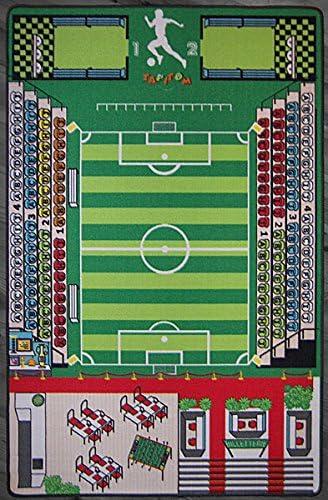 TAPITOM Alfombra de fútbol para niños Alfombra de Campo de