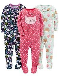 Simple Joys by Carter's baby-girls 3-pack Snug-fit Footed Cotton Pajamas Pajama Set