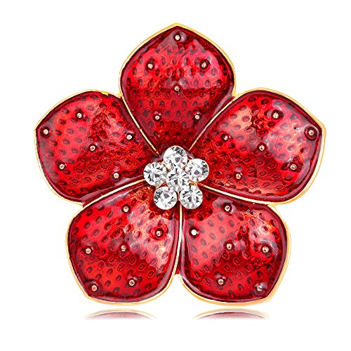 - Red Flowers Brilliant Poppy Brooch Pins for Women Soldier Remembrance Day Gifts