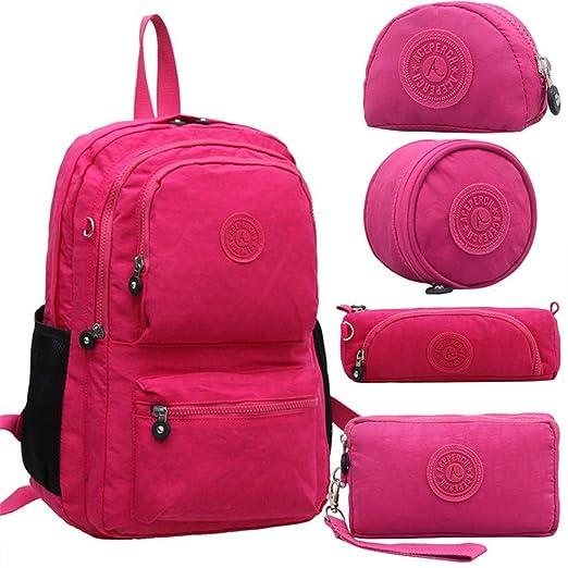 Amazon.com | Women Original Kipled Mujer Escolar Feminina Backpack School Bag For Teenager Girl Nylon Waterproof Backpacks Female Sac Light Green | Kids ...