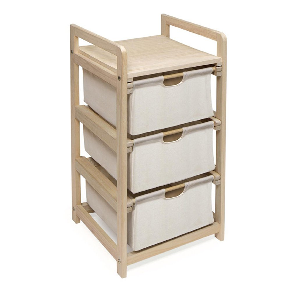 Amazon Com Three Drawer Hamper Storage Unit Natural Canvas Childrens Storage Furniture Baby