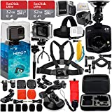 GoPro HERO7 Hero 7 Bundle with Free Promotional Car Dash Cam! Includes – 2X SanDisk Ultra 32GB microSDHC + Hard-Shell Case + Head Strap & Chest Strap with Mounts + More (Silver) Review