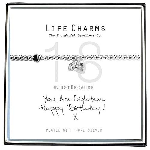 Life Charms - Pulsera de felicitación de 18 cumpleaños ...