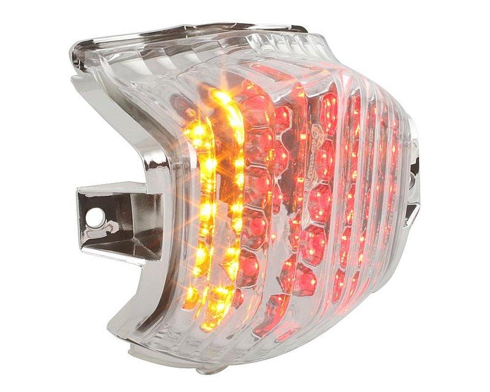 FANALE POSTERIORE STR8 LED vetro trasparente con indicatore di direzione per Aprilia SR 50 CC, Roller