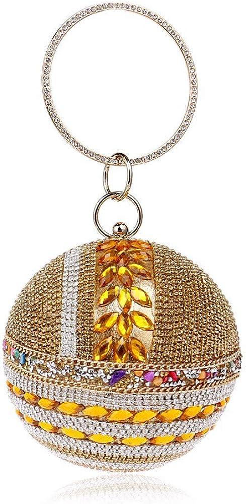 Olshansky Abendtasche mit Diamanten, Damen Kleid, Hochzeitsgesellschaft Prom Clutch Bag Prom Bag Bankett Tasche Ein