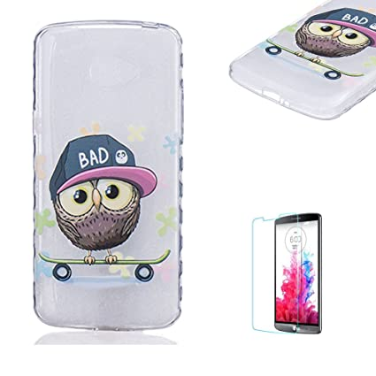 Para LG K5 Full Body Funda Case Carcasa con [para LG K5 libre Protector de pantalla Patrón De funyye [multicolores]] flexible suave transparente Gel ...
