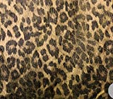 leopard upholstery fabric - Vintage Suede Fabric Reversible Backing Crushed Metallic Gold Leopard Upholstery / 58