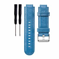 Bemodst Watchband for Garmin Approach S2/S4 GPS Golf Watch, Genuine Leather Smartwatch Strap Band Replacement Accessory Wristband Bracelet with With Tool Knife for Men Women