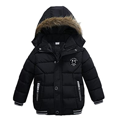 efc6ab718cef5 Pocciol Lovely Kids Coat Boys Girls Thick Warm Zip Coat Padded Winter  Jacket Clothes for 2-5T Baby Kid