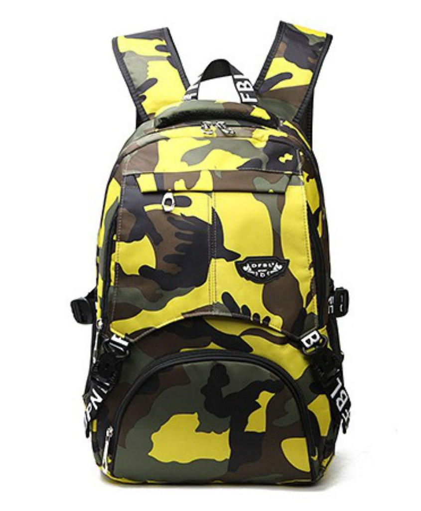 Generic旅行迷彩Thame ChildrenバックパックキャンプCartoon Schoolbag Pupils肩バッグアウトドアバッグ B0737DDLQD イエロー