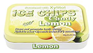 Hand Crafted Candy Tin Lemon Ice Chips Candy 1.76 oz Candy