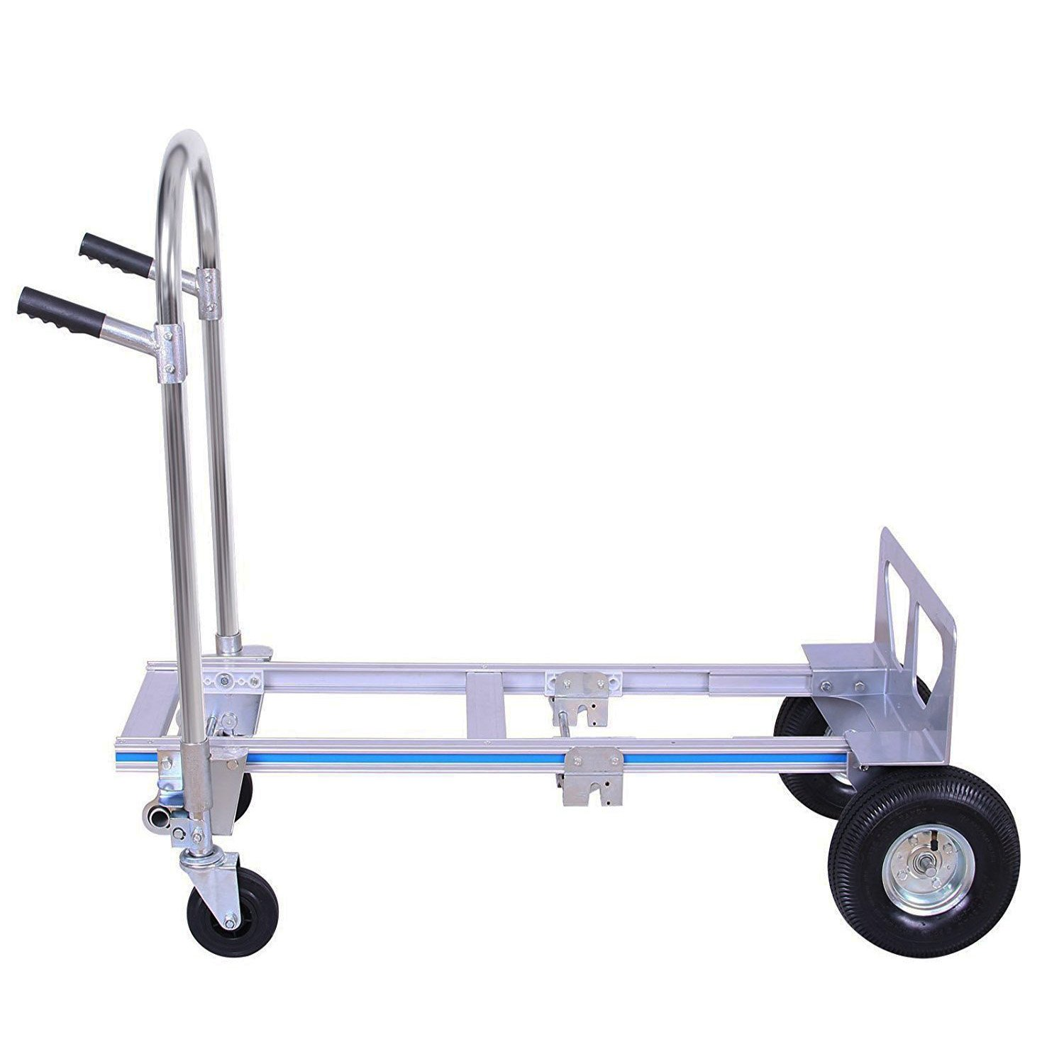 Z-bond Aluminum Hand Truck 770LBS Folding Hand Truck 2 IN 1 Hand Cart Dolly with Flat Free Wheels (770LB hand truck) by Z-bond