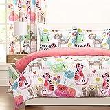 SIS Covers Crayola Purrty Cat Comforter Set, Full/Queen