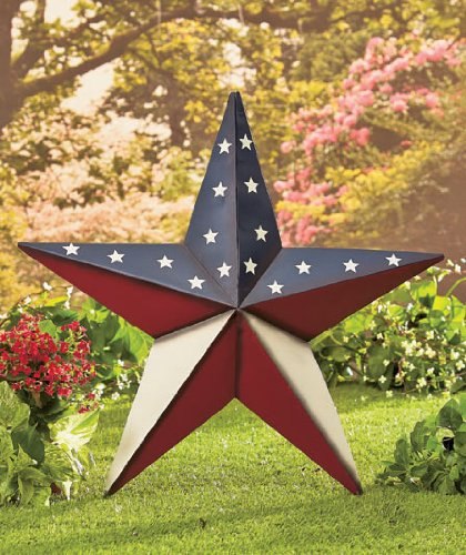 24 patriotic star yard stake or wall hanging primitive country americana stars stripes flag decor