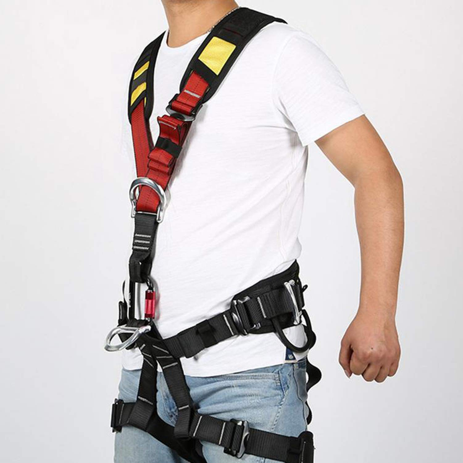 Nrpfell Outdoor Climbing Rock Rappelling Mountaineering Accessories Body Wearing Seat Belt Sitting Waist Bust Protection by Nrpfell (Image #3)