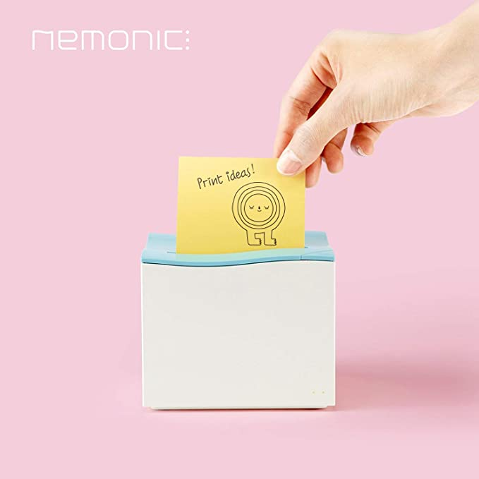 MANGOSLAB nemonic Sticky Note Printer, Inkless Thermal Printer, WiFi and Bluetooth Connection [White]