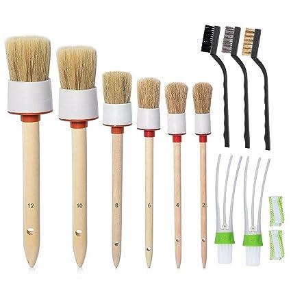 Set di pennelli Auto Detailing Spazzole pazzolini a setole morbide pulisci  panno e spazzola metallica perfetti 0315313236e2