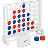 "JOYMOR Giant Wooden 4 in a Row Game with Storage Bag, Huge 4 Connect in a Row Family Game Fun for Adults and Kids, 25.5"" x22"""