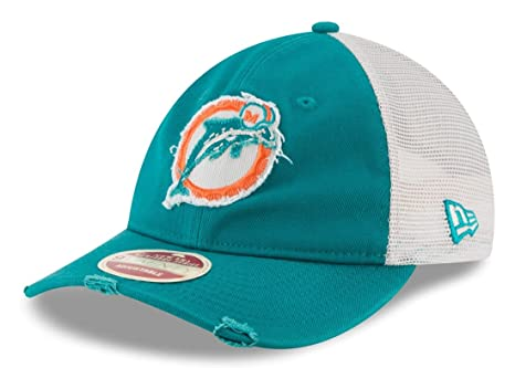 outlet store 56ca7 61e5a ... where to buy miami dolphins new era nfl 9twenty historic quotfrayed  twillquot mesh back hat 099e6