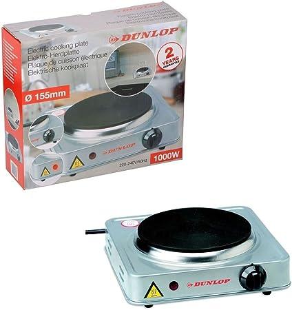 Dunlop 15,5 cm eléctrica individual placa de cocina (placa de ...