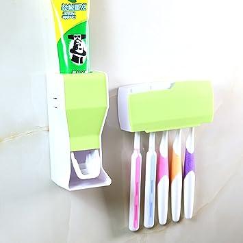 XDOBO soportes para cepillos de dientes manos libres, dispensador de pasta de dientes automático soporte para cepillo (5): Amazon.es: Hogar