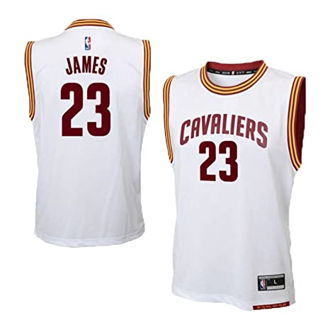 Lebron James Cleveland Cavaliers White Home Replica Youth Jersey (Small 8)