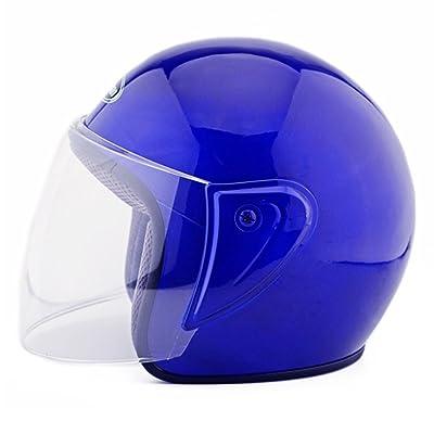 Kangzy Moto Moto Scooter Moto Cyclomoteur Vélo électrique automobile Tête travail protection sécurité bedeckung Helmet Chapeau hlbkugel d ohre 101Bleu
