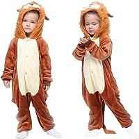 MMTX Pijamas Animal para Niñas Niños, Pijamas de León Pijamas Enteros de Animales con Capucha, Halloween Navidad Regalos…