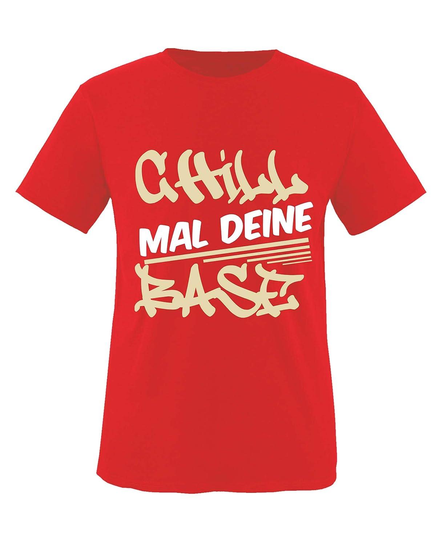 Chill mal Deine Base Graffitti Top Basic Print-Shirt Rundhals Comedy Shirts Jungen T-Shirt 100/% Baumwolle