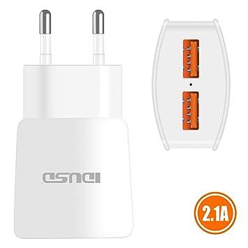 IDUSD Cargador Viaje CASA Dual 2 Puertos 2.1A USB Cargador ...