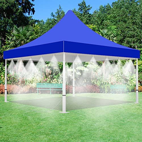 Misting Tent – Blue Tent with Mist System – for Outdoor Events – with Low Pressure Misting System- Easy to Set-Up 10 x 10 Blue Tent