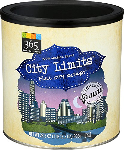 365 Everyday Value, City Limits Full City Roast Ground Coffee – Canister, 28.5 oz