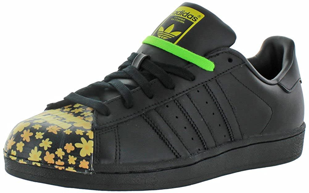 check out 2577e 47142 adidas Men's Superstar Pharrell Williams Supershell Shoes (10, Core  Black/Black/Black (S83366))